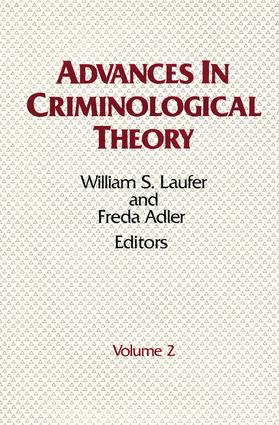 Advances in Criminological Theory: Volume 2, 1st Edition (Hardback) book cover