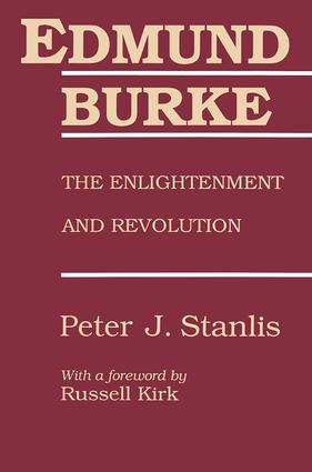 Edmund Burke: The Enlightenment and Revolution book cover
