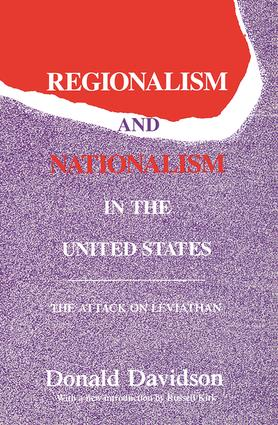 Regionalism and Nationalism in the United States: The Attack on