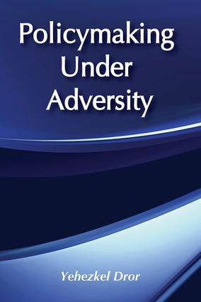 Policymaking under Adversity: 1st Edition (Paperback) book cover