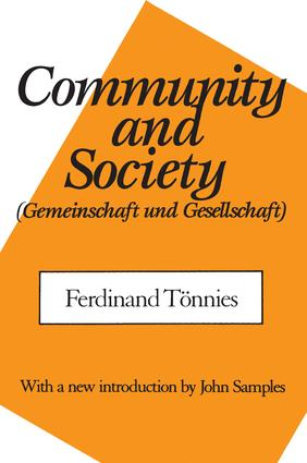 Community and Society: 1st Edition (Paperback) book cover