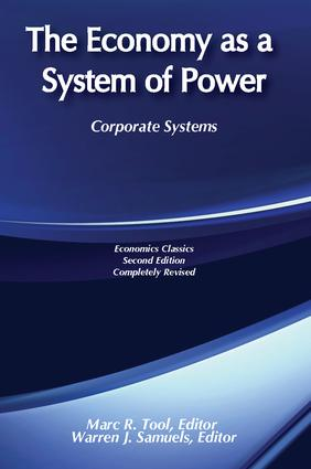 The Economy as a System of Power
