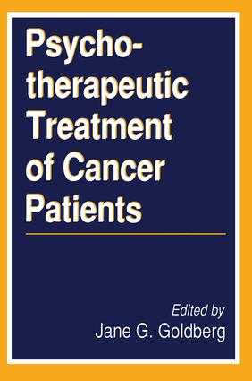 Psychotherapeutic Treatment of Cancer Patients: 1st Edition (Paperback) book cover