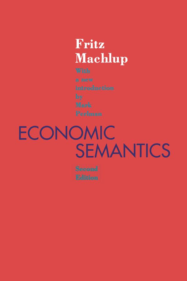 Economic Semantics