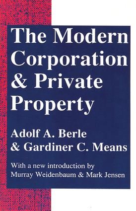 The Modern Corporation and Private Property: 2nd Edition (Paperback) book cover