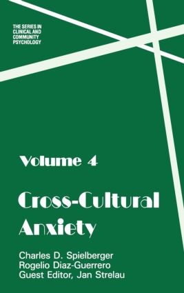 Cross Cultural Anxiety: 1st Edition (Hardback) book cover