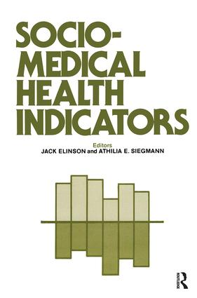 Sociomedical Health Indicators: 1st Edition (Paperback) book cover