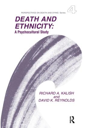 Death and Ethnicity: A Psychocultural Study book cover