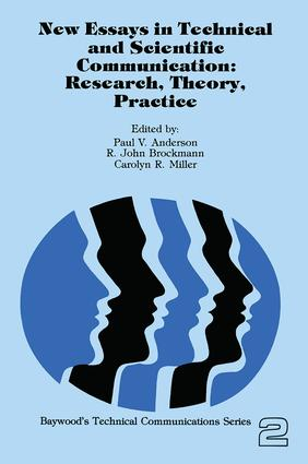 New Essays in Technical and Scientific Communication: Research, Theory, Practice, 1st Edition (Paperback) book cover