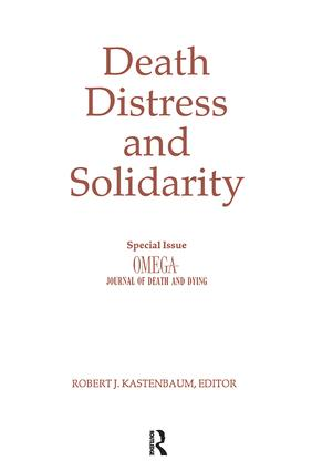 Distress, Stress And Solidarity In Palliative Care