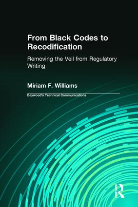 From Black Codes to Recodification: Removing the Veil from Regulatory Writing book cover