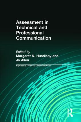 Assessment in Technical and Professional Communication book cover