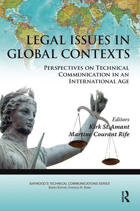 Legal Issues in Global Contexts: Perspectives on Technical Communication in an International Age book cover