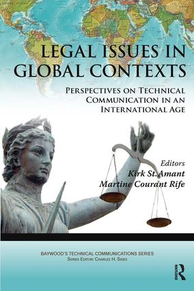 Legal Issues in Global Contexts: Perspectives on Technical Communication in an International Age, 1st Edition (Paperback) book cover