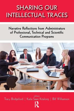 Sharing Our Intellectual Traces: Narrative Reflections from Administrators of Professional, Technical, and Scientific Programs book cover