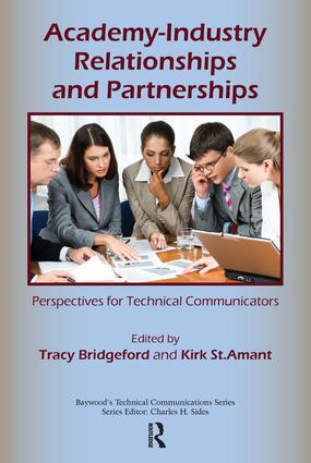 Academy-Industry Relationships and Partnerships: Perspectives for Technical Communicators (Paperback) book cover