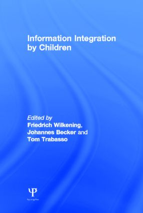 Information Integration By Children (Hardback) book cover