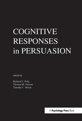Cognitive Responses in Persuasion: 1st Edition (Hardback) book cover