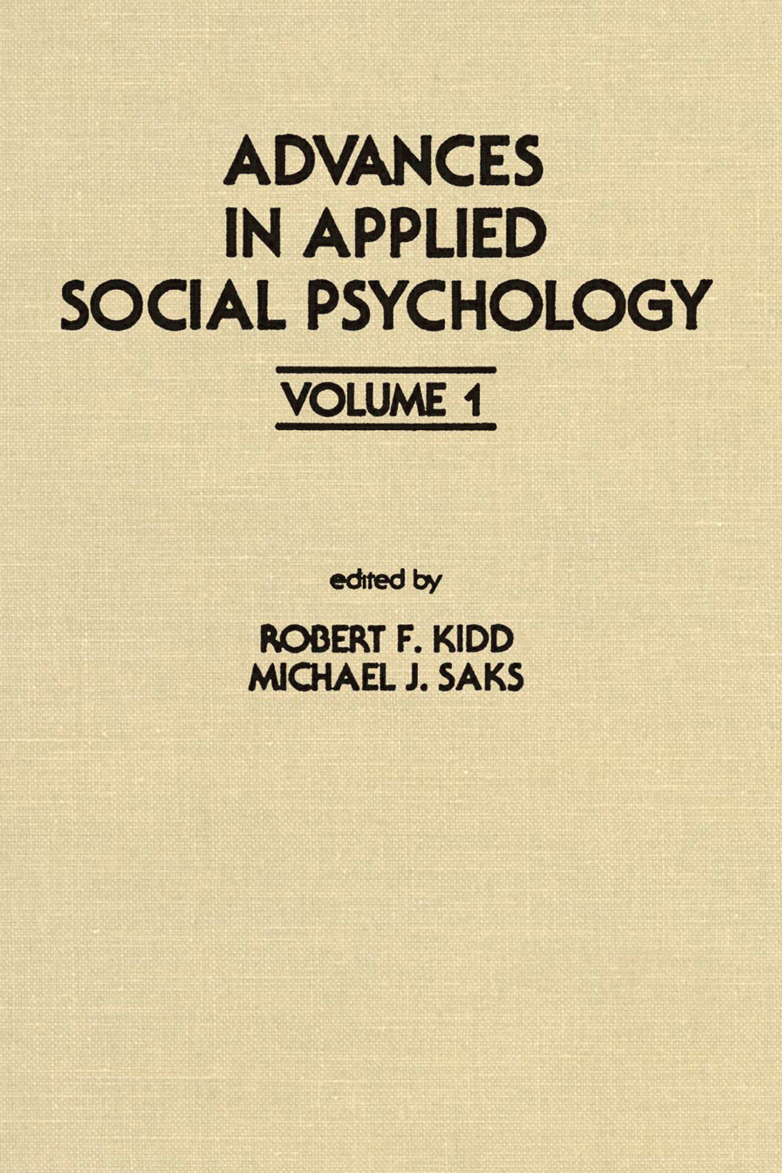Advances in Applied Social Psychology
