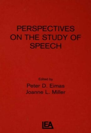 Perspectives on the Study of Speech (Hardback) book cover