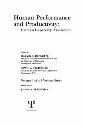 Human Performance and Productivity: Volumes 1, 2, and 3, 1st Edition (Hardback) book cover
