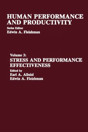Stress and Performance Effectiveness: Volume 3 (Hardback) book cover