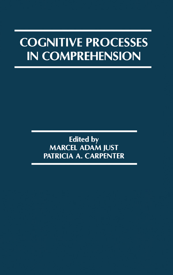 Cognitive Processes in Comprehension (Paperback) book cover