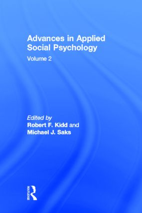 Advances in Applied Social Psychology: Volume 2 (Hardback) book cover