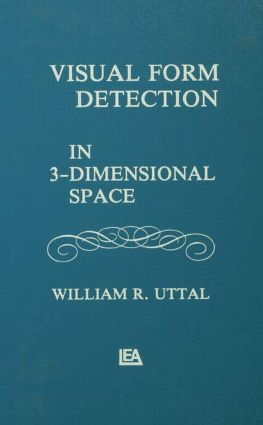 Visual Form Detection in Three-dimensional Space (Hardback) book cover