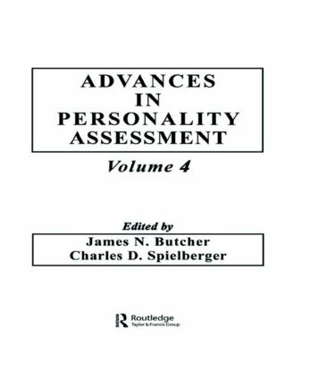 Advances in Personality Assessment: Volume 4 (Hardback) book cover