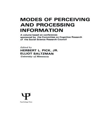 Modes of Perceiving and Processing Information: 1st Edition (Hardback) book cover