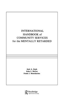 International Handbook of Community Services for the Mentally Retarded: 1st Edition (Hardback) book cover
