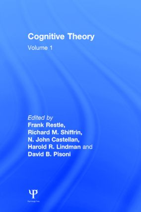 Cognitive Theory: Volume 1: Cognitive Theory, 1st Edition (Hardback) book cover