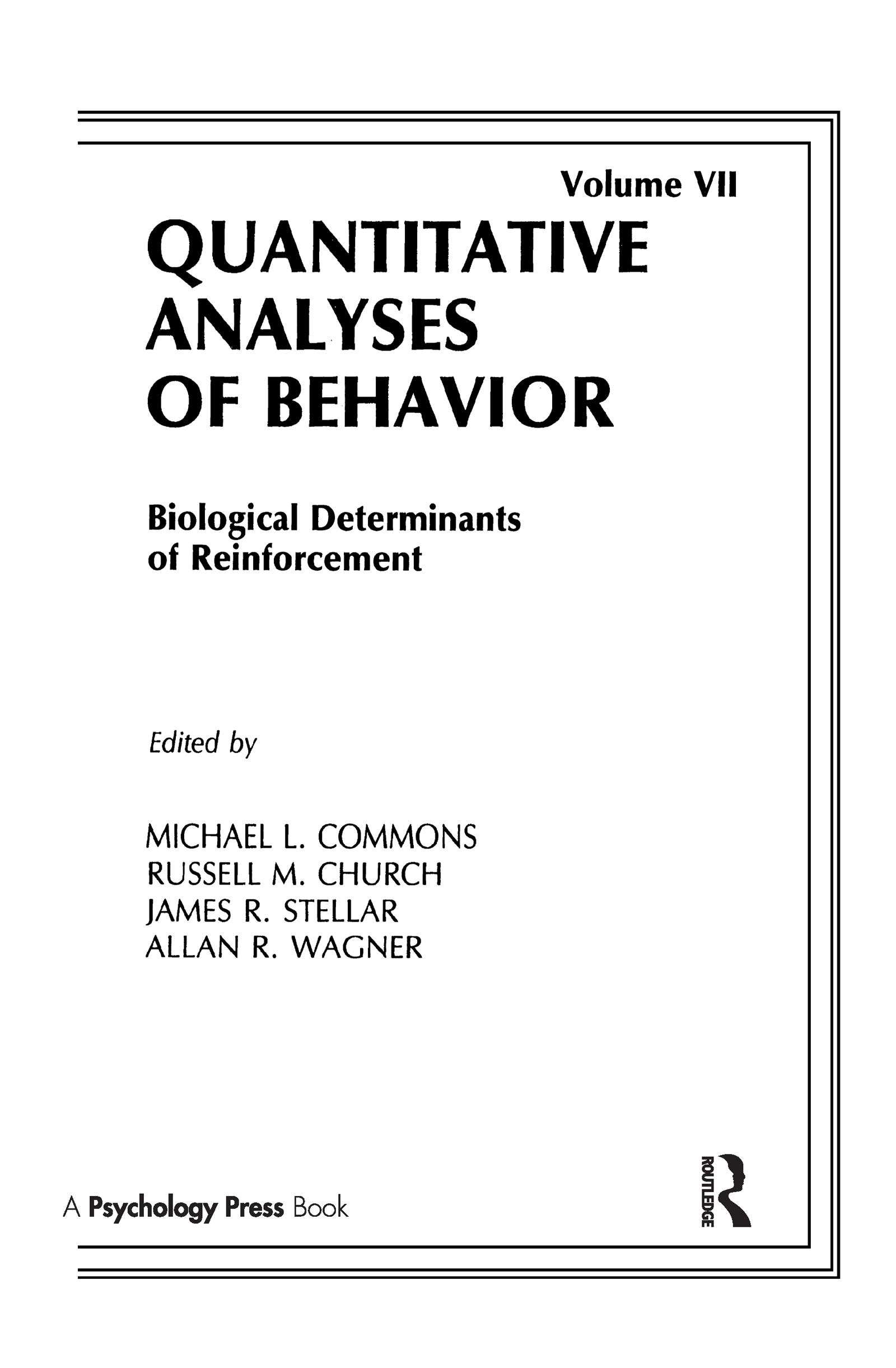 Biological Determinants of Reinforcement: Biological Determinates of Reinforcement book cover