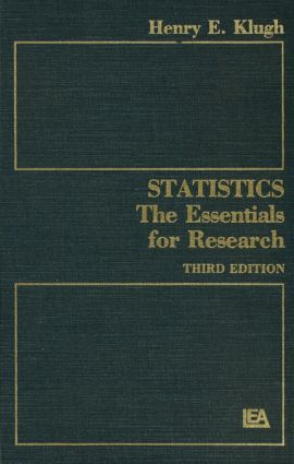 Statistics: The Essentials for Research, 3rd Edition (Hardback) book cover