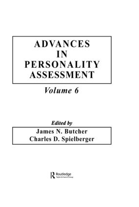 Advances in Personality Assessment: Volume 6 (Hardback) book cover