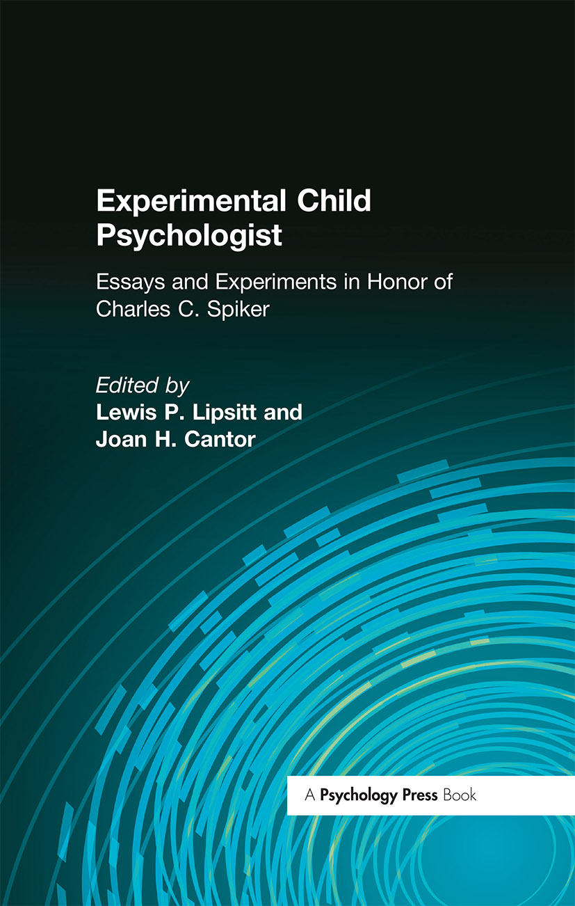 Experimental Child Psychologist: Essays and Experiments in Honor of Charles C. Spiker (Hardback) book cover