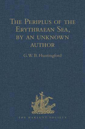 The Periplus of the Erythraean Sea, by an unknown author: With some extracts from Agatharkhides 'On the Erythraean Sea' book cover