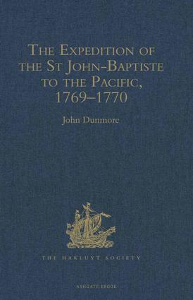 The Expedition of the St John-Baptiste to the Pacific, 1769–1770 book cover