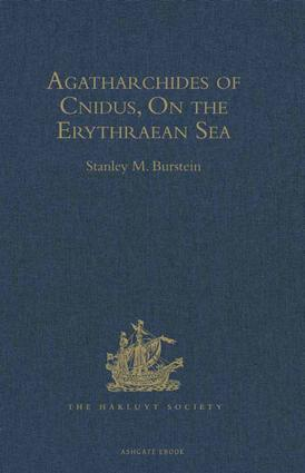 Agatharchides of Cnidus: On the Erythraean Sea, 1st Edition (Hardback) book cover