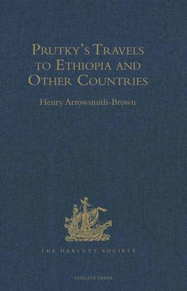 Prutky's Travels to Ethiopia and Other Countries: 1st Edition (Hardback) book cover