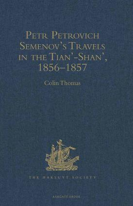 Petr Petrovich Semenov's Travels in the Tian'-Shan', 1856–1857 book cover