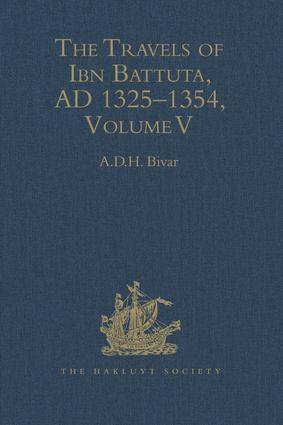 The Travels of Ibn Battuta: Volume V: Index book cover