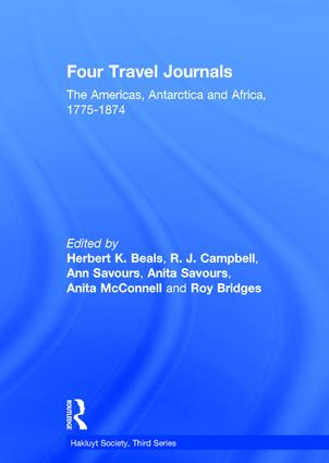Four Travel Journals / The Americas, Antarctica and Africa / 1775-1874: 1st Edition (Hardback) book cover