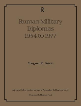Roman Military Diplomas 1954 to 1977: 1st Edition (Paperback) book cover