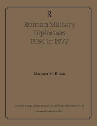 Roman Military Diplomas 1978 to 1984: 1st Edition (Paperback) book cover