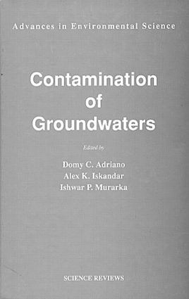 Contamination of Groundwaters: 1st Edition (Hardback) book cover