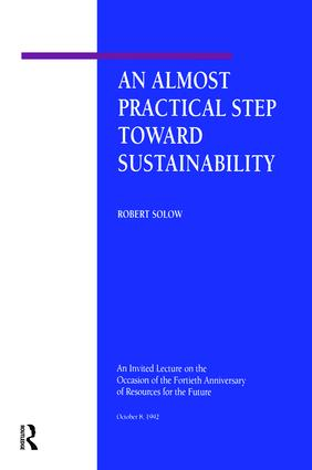 An Almost Practical Step Toward Sustainability: 1st Edition (e-Book) book cover