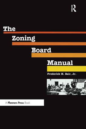 Zoning Board Manual: 1st Edition (Paperback) book cover