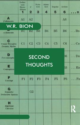 Second Thoughts: Selected Papers on Psychoanalysis, 1st Edition (Paperback) book cover